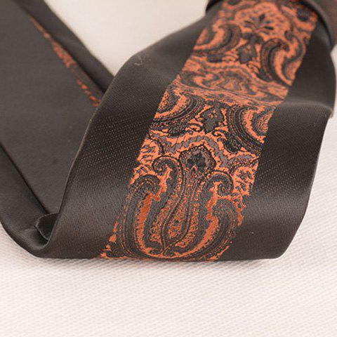 Shops Stylish Brown Retro Palace Jacquard Middle 6CM Width Tie For Men - BROWN  Mobile