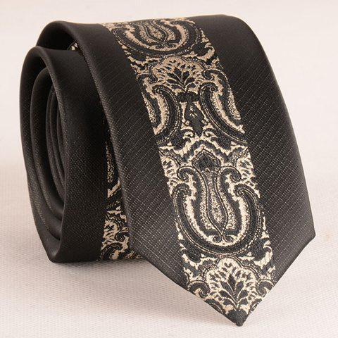 Best Stylish Retro Palace Jacquard Middle 6CM Width Black Tie For Men