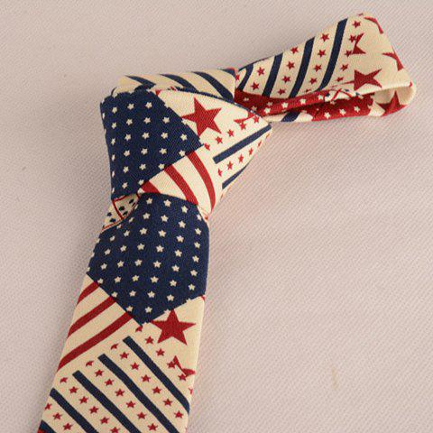 Best Stylish Star and Stripe Pattern Patchwork 5CM Width Tie For Men - COLORMIX  Mobile