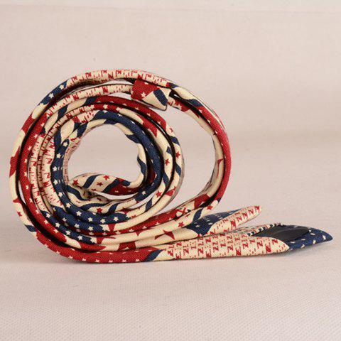Shop Stylish Star and Stripe Pattern Patchwork 5CM Width Tie For Men - COLORMIX  Mobile