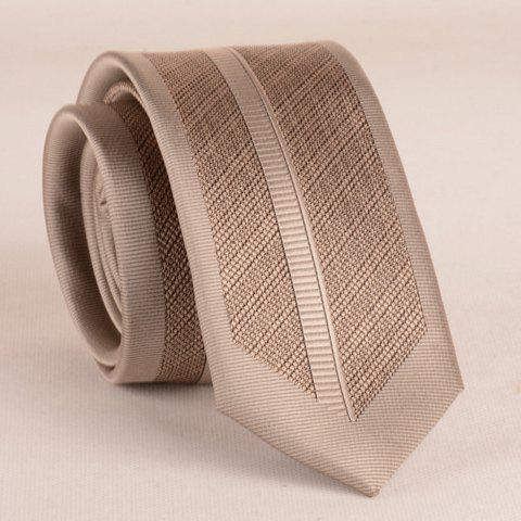 Outfit Stylish Light Khaki Stripy 6CM Width Tie For Men - LIGHT KHAKI  Mobile