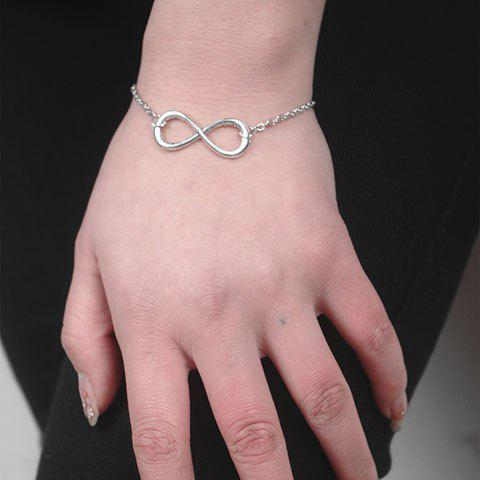 New Alloy Infinity Link Chain Bracelet