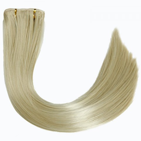Sale Ladylike High Temperature Fiber Straight Clip-In Long Hair Extensions - GOLDEN  Mobile