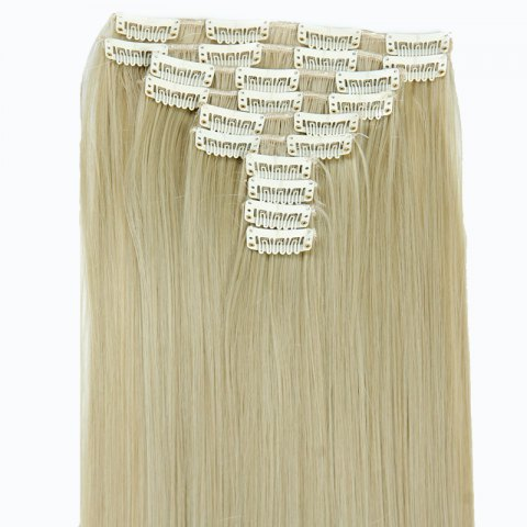 Best Ladylike High Temperature Fiber Straight Clip-In Long Hair Extensions - GOLDEN  Mobile