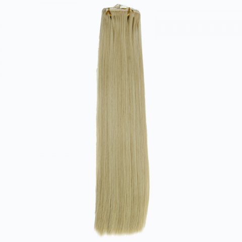 Cheap Ladylike High Temperature Fiber Straight Clip-In Long Hair Extensions - GOLDEN  Mobile