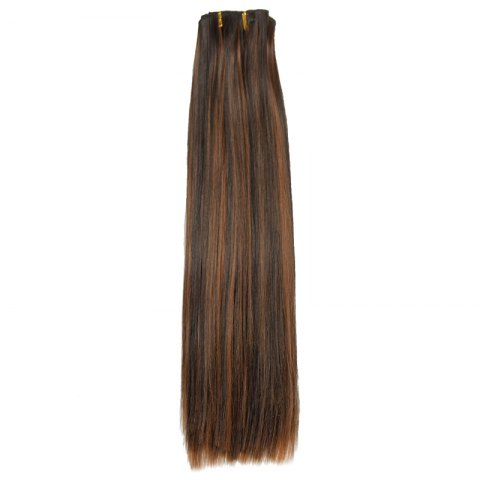 Cheap Fashion High Temperature Fiber Straight Clip-In Long Hair Extensions For Women - COLORMIX  Mobile