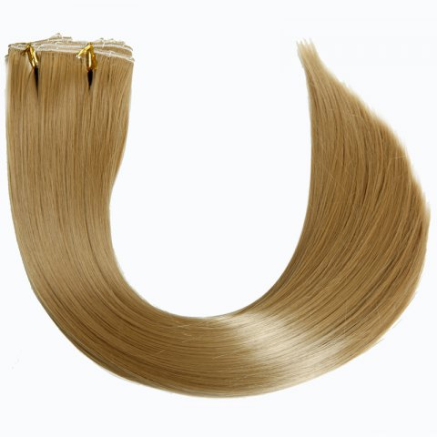 Buy Trendy High Temperature Fiber Long Straight Hair Extensions For Women - GOLDEN BLONDE  Mobile