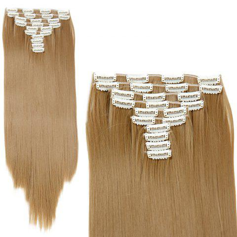 Fancy Trendy High Temperature Fiber Long Straight Hair Extensions For Women - GOLDEN BLONDE  Mobile