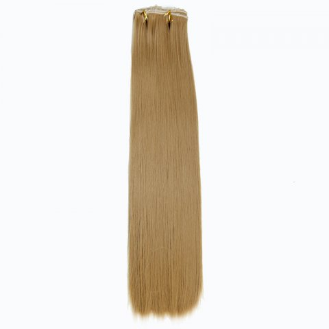 Trendy Trendy High Temperature Fiber Long Straight Hair Extensions For Women - GOLDEN BLONDE  Mobile