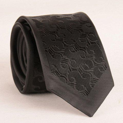 New Stylish Retro Jacquard 6.5CM Width Black Tie For Men