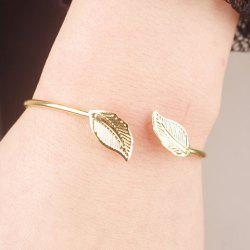 Alloy Leaf Cuff Bracelet - GOLDEN