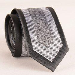 Stylish Weaving Jacquard Patchwork 6CM Width Tie For Men - BLACK