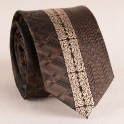 Stylish Middle Light Coffee Retro Paisley Jacquard 6CM Width Tie For Men