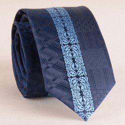 Stylish Middle Light Blue Retro Paisley Jacquard 6CM Width Tie For Men - CADETBLUE