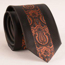 Stylish Brown Retro Palace Jacquard Middle 6CM Width Tie For Men