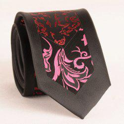 Stylish Rose and Wine Red Jacquard 6.5CM Width Tie For Men