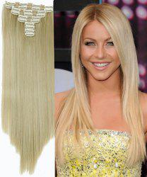 Ladylike High Temperature Fiber Straight Clip-In Long Hair Extensions - Or