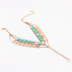 Bohemian Style Beads Sequins Pendant Belly Dance Anklet -