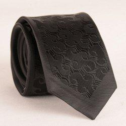 Stylish Retro Jacquard 6.5CM Width Black Tie For Men -