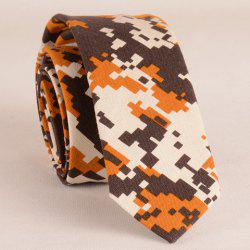 Stylish Digital Camouflage Pattern 5CM Width Coffee Color Tie For Men -