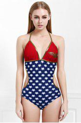 Sexy Halter Sleeveless Star Pattern Women's Wander Woman Swimwear