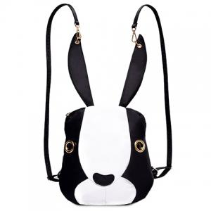 Cute Bunny Shape and Color Block Design Satchel For Women - White And Black - 40