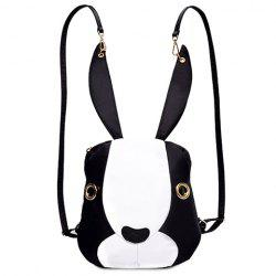 Cute Bunny Shape and Color Block Design Satchel For Women