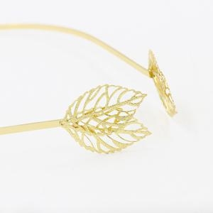 Faddish Hollow Out Leaf Shape Hairband For Women -