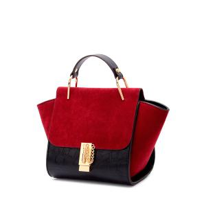 Trendy Metal and Color Block Design Tote Bag For Women