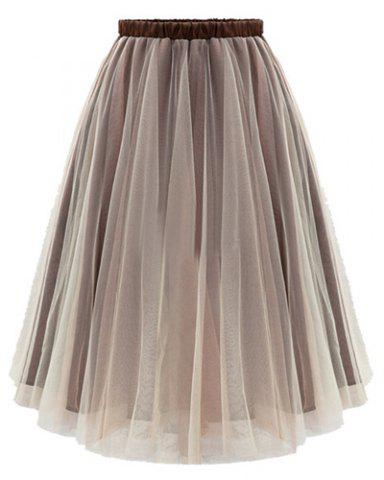 Fashion A Line Tulle Flowy Skirt