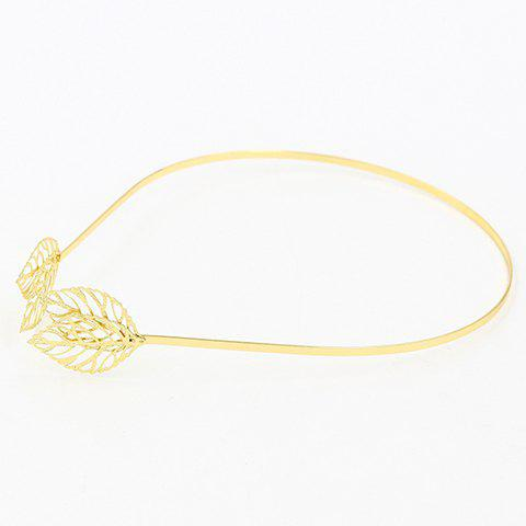 New Faddish Hollow Out Leaf Shape Hairband For Women