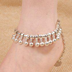 Punk Ball Drop Tassel Coin Beaded Anklets