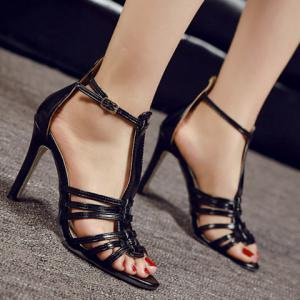 Trendy Peep Toe and T-Strap Design Sandals For Women -