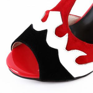 Fashionable Colour Block and T-Strap Design Sandals For Women -