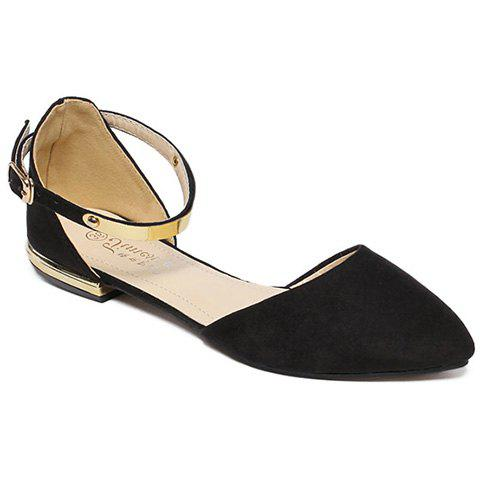 Fancy Sweet Pointed Toe and Two-Piece Design Flat Shoes For Women