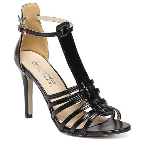 Affordable Trendy Peep Toe and T-Strap Design Sandals For Women
