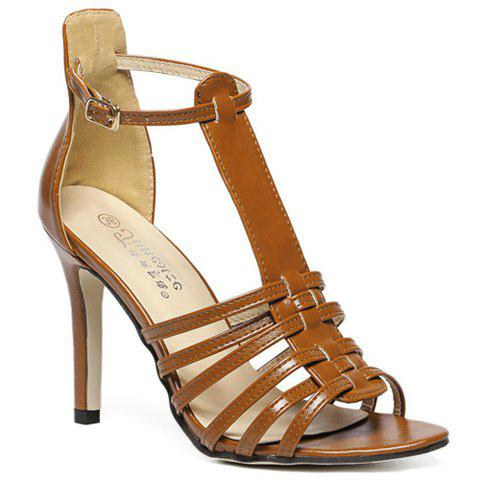 Buy Trendy Peep Toe T-Strap Design Sandals Women