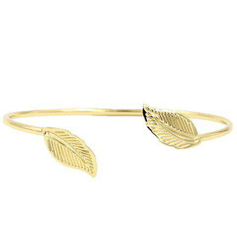 Outfit Leaf Shape Alloy Cuff Bracelet