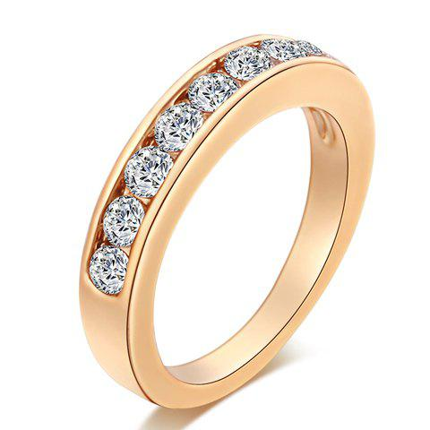 Trendy Alloy Rhinestoned Round Ring