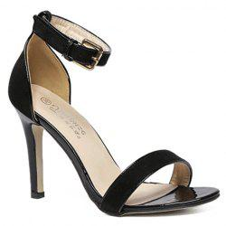 Fashion Two-Piece and Flock Design Sandals For Women -