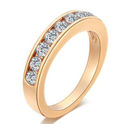 Alloy Rhinestoned Round Ring -