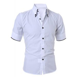 Short Sleeve Button Down Casual Shirt
