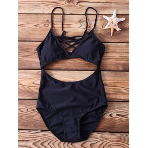 Sexy Spaghetti Strap Cut Out One Piece Swimwear For Women