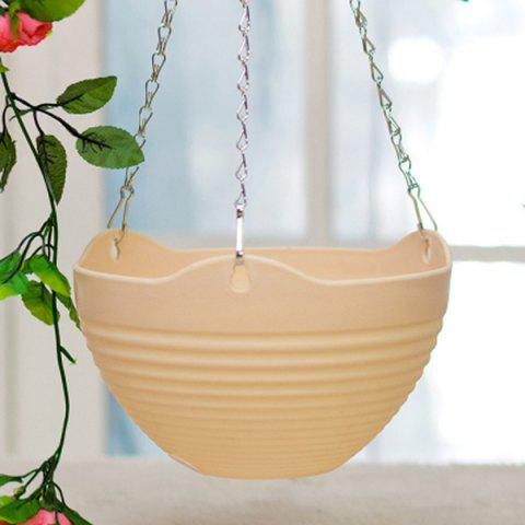 Shop Quality Household Flexible Chain Solid Color Plastic Hanging Basket Flower Pot