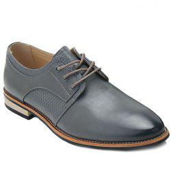 Stylish Embossing and PU Leather Design Casual Shoes For Men - GRAY
