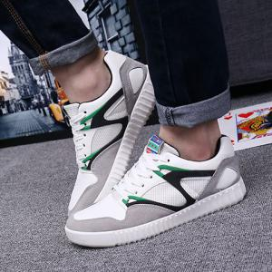 Casual Lace-Up and Color Block Design Athletic Shoes For Men -