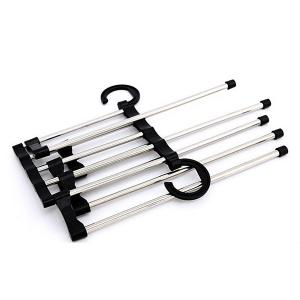 Practical Multifunction 5 in 1 Stainless Steel Tube Trousers Rack -