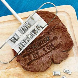 Quality Personality Steak Meat Barbecue BBQ Branding Iron 55 Letter Shape Mold Baking Tool -