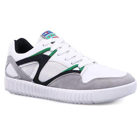 Fancy Casual Lace-Up and Color Block Design Athletic Shoes For Men