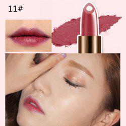 Stylish 12 Colours Natural Snail Filling Hydrated Glossy Moisturizing Lipstick -
